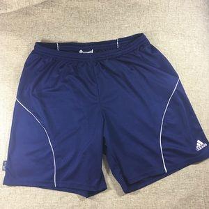 Adidas Mens Striker Soccer Shorts Navy White 2XL